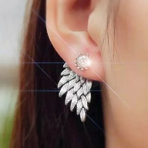 ❤️gorgeous pair silver tone angel wing earring